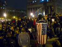 Occupy Wall Street-Gathering at Foley Square After Expulsion From Zuccatti Park